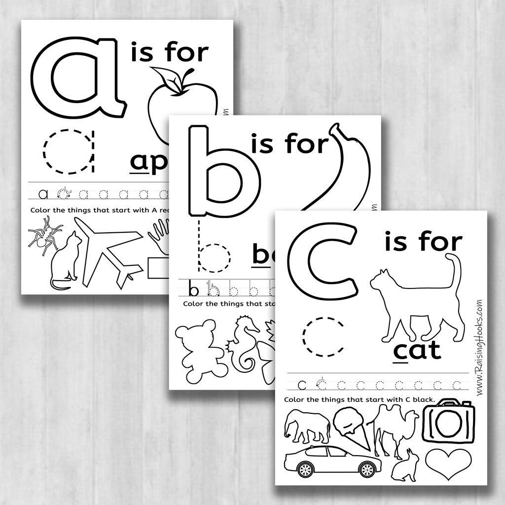 26 Alphabet Learning Worksheets To Color Trace And Sound