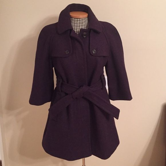 GAP Wool Peacoat Like new wool peacoat. Has a tie belt and 3/4 length sleeves. Super warm...100% wool with polyester lining. Front pockets. GAP Jackets & Coats Pea Coats