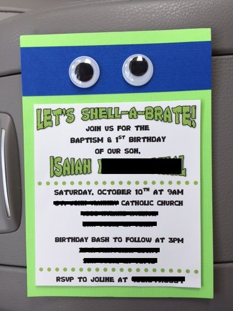 Teenage Mutant Ninja Turtles TMNT DIY Party Invitation First - how to make invitations with microsoft word