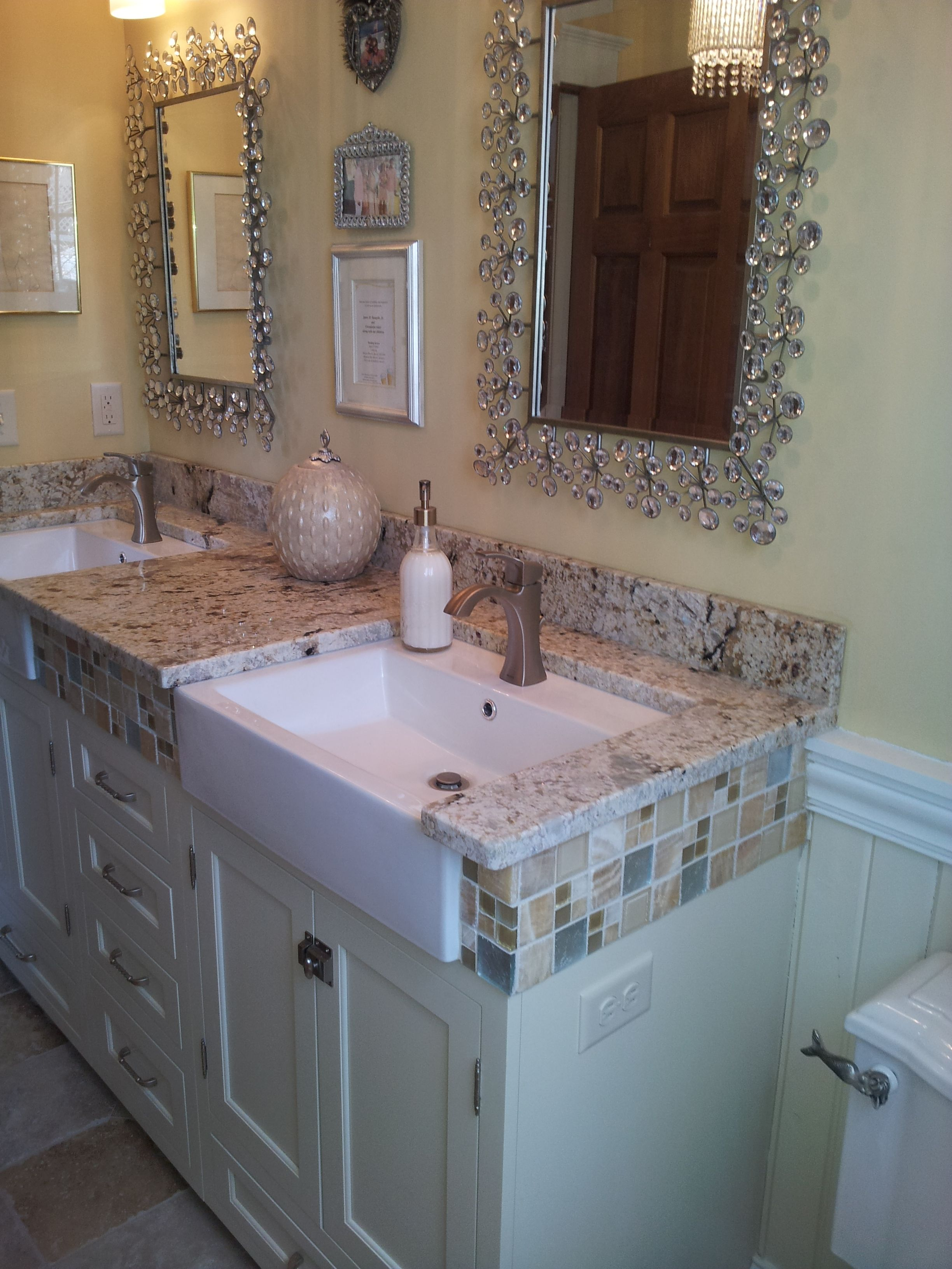 Great Use Of Tile In A Dura Supreme #bathroom #vanity #remodel Amazing When Remodeling Bathroom Where To Start Decorating Design