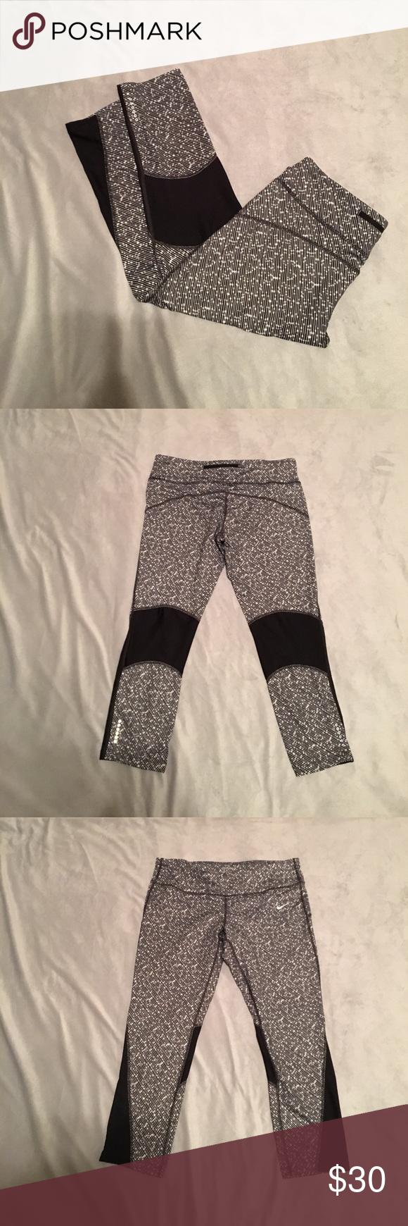 Nike dri fit cropped workout leggings | Workout leggings ...