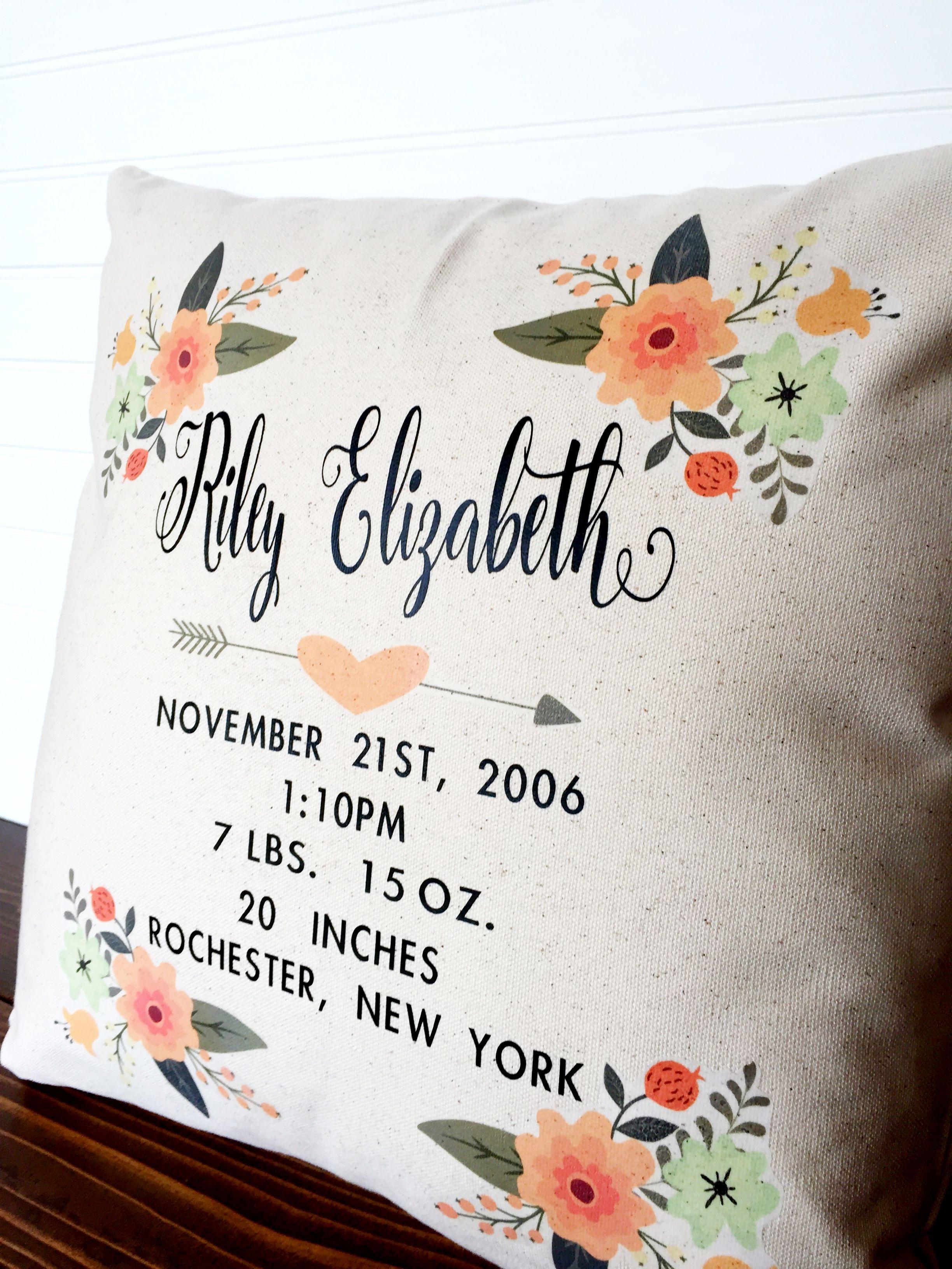Decor baby baby girl nursery baby shower gift personalized decor baby baby girl nursery baby shower gift personalized pillow negle Gallery