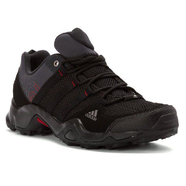 Adidas Outdoor hombres ax2 senderismo zapato, pizarra oscuro / negro / Light Scarlet