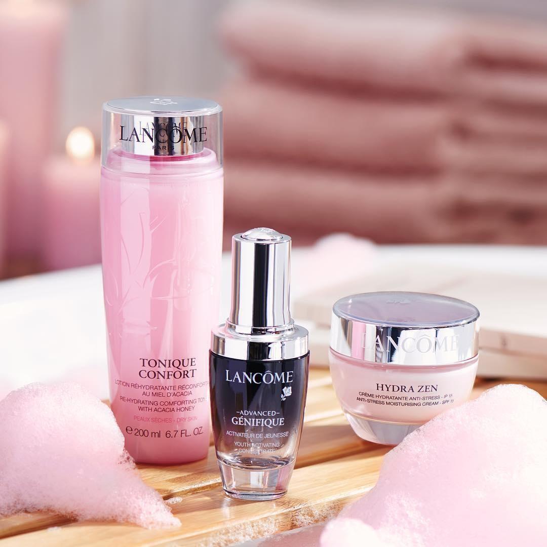 Advanced Genifique Face Serum Lancome Cleanser And Toner Perfume Celebrity Skin Care