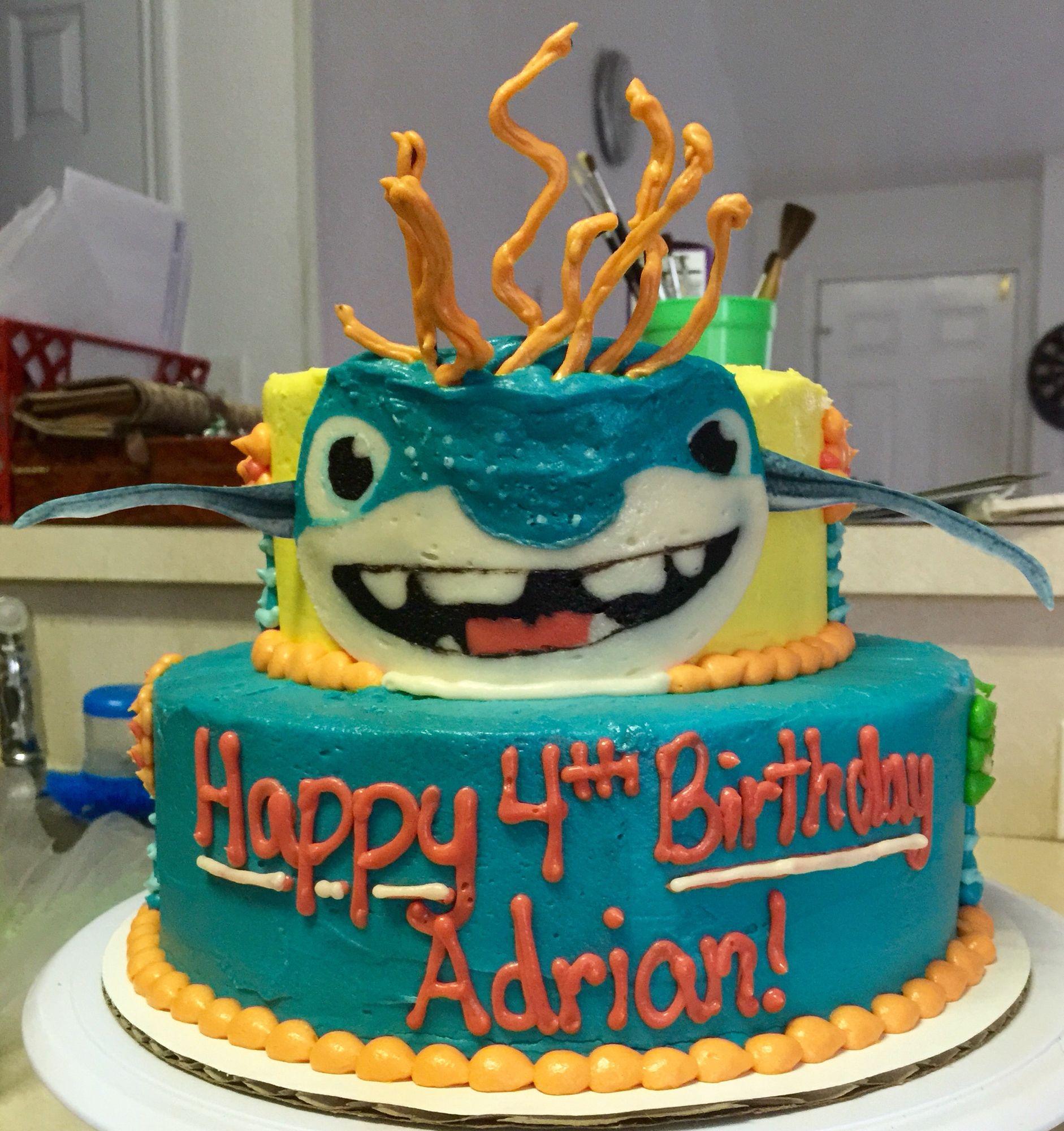 Wallykazam Birthday Cake