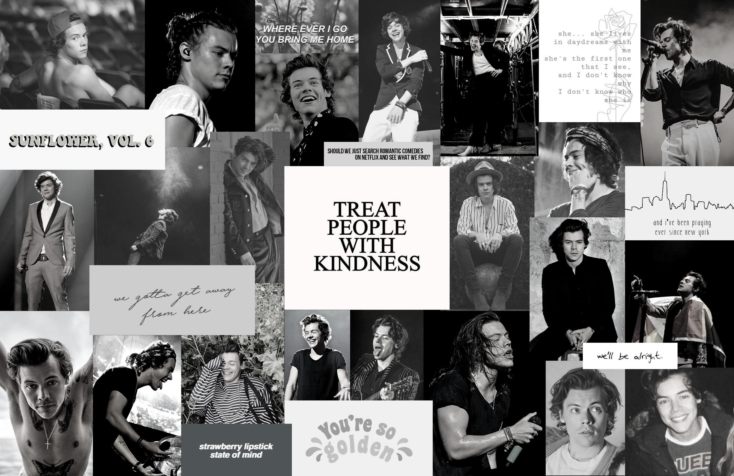 Harry Styles Aesthetic Collage