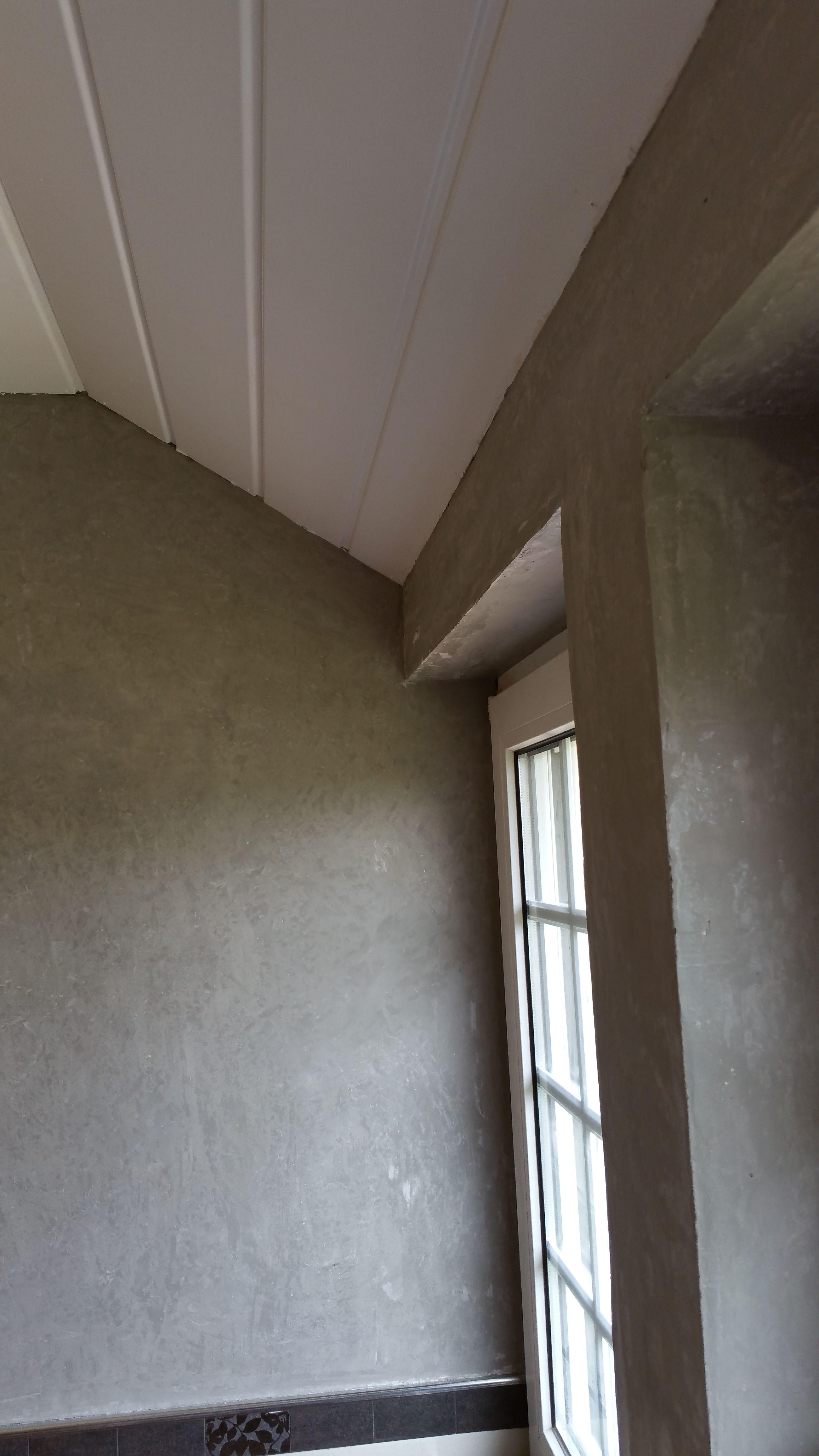 Putz wand wand in betonoptik tapete fliesen oder putz - Putz auf fliesen ...