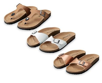 06f133645246b ALDI - Ladies  Footbed Sandals