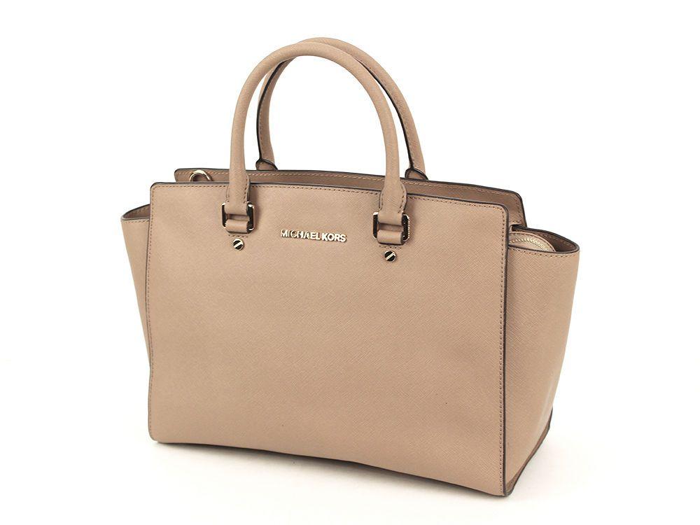0c0b12ea6e1897 EUC MICHAEL KORS SELMA Large TZ Satchel DARK KHAKI Saffiano Leather Handbag  #MICHAELMichaelKors #Satchel