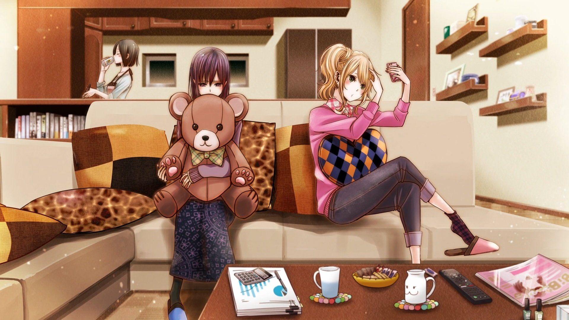 Anime Citrus Mei Aihara Ume Aihara Yuzu Aihara 1080p Wallpaper Hdwallpaper Desktop Anime Citrus Manga Anime Funny