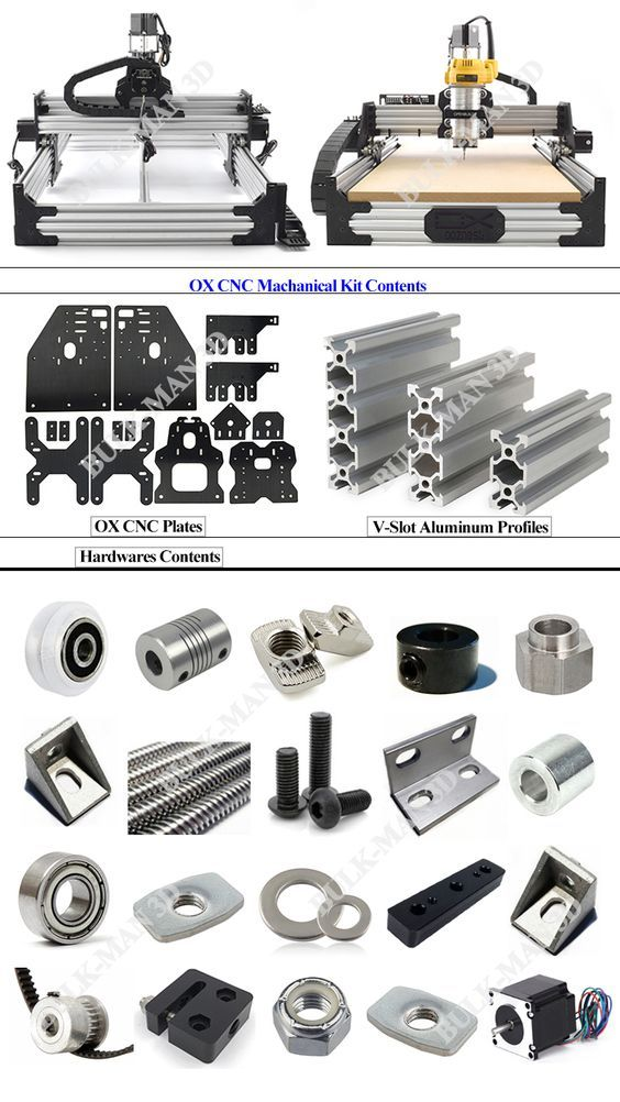 Openbuilds OX CNC Router Machine CNC Machanical kit with 4