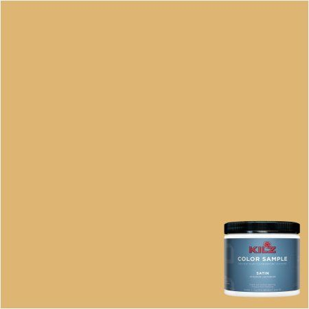 Kilz Complete Coat Interior/Exterior Paint & Primer in One #LD260-02 Aged Amber, 1 gal, Flat, Yellow