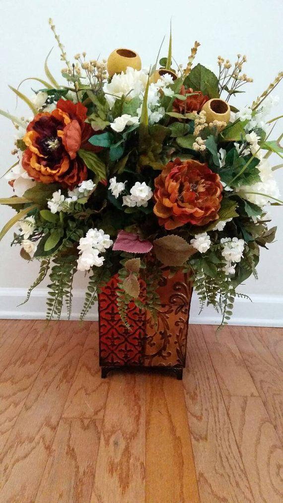Extra large floral arrangement silk flowers traditional elegant old extra large floral arrangement silk flowers by designtwentyninesc mightylinksfo
