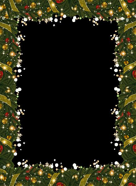 Christmas Holiday Frame With Garland Christmas Poster Design Christmas Picture Frames Christmas Poster