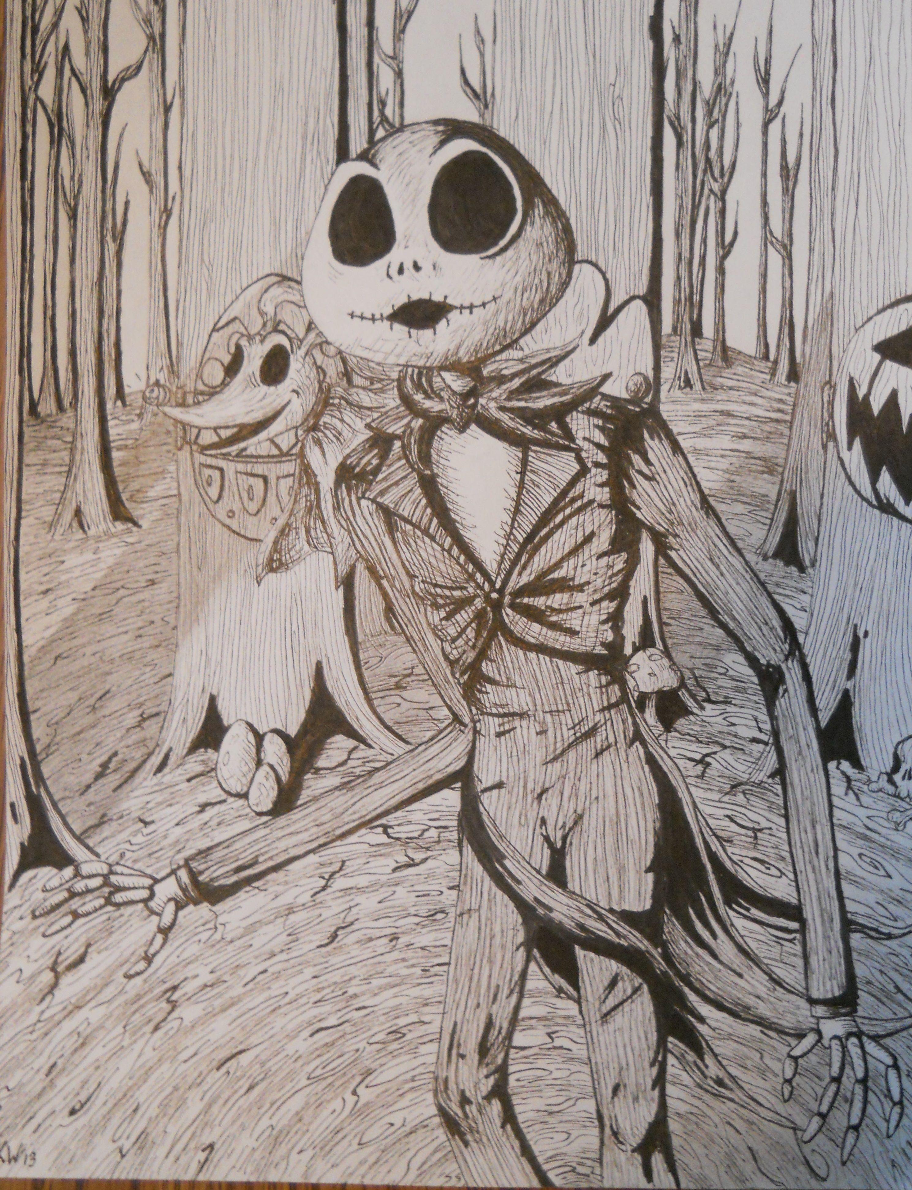 jack skellington drawings - HD2978×3882