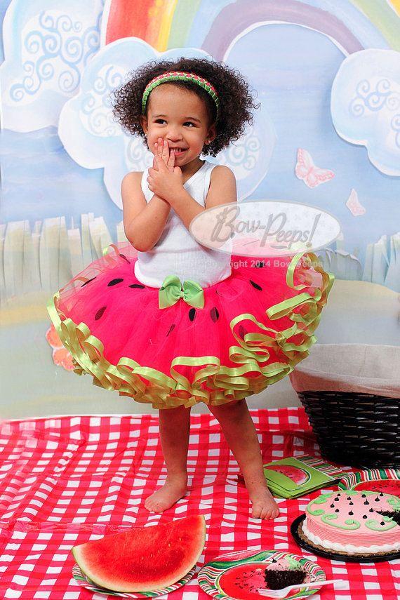Sandía inspirado del niño niña tutu rosa tutú por BowPeepsAndMore