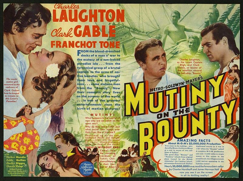"BEST FILM EDITING NOMINEE: Margaret Booth for ""Mutiny On The Bounty""."