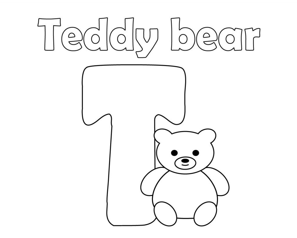 Letter T Coloring Pages For Preschoolers Free Printable Letters