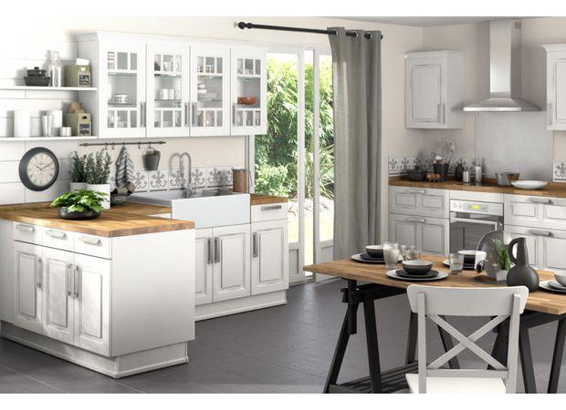 La cuisine Bistro est un modèle vintage doté d\u0027un charme rétro - cuisine a l ancienne