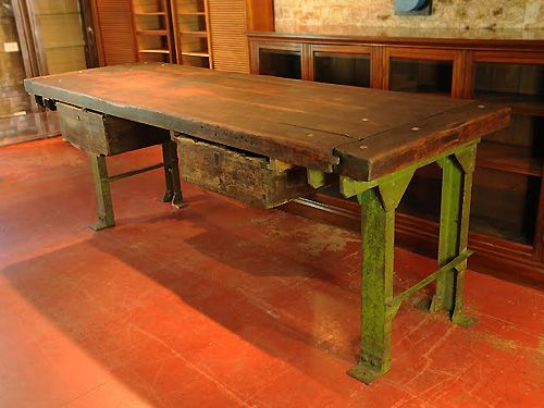 Brilliant Vintage Workbench Would Love To Find Something Like This Machost Co Dining Chair Design Ideas Machostcouk