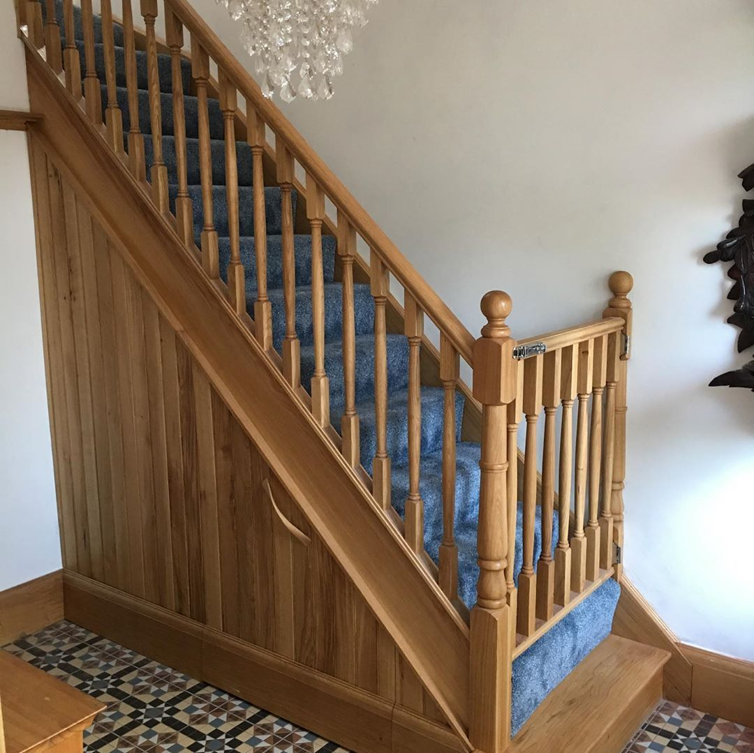 """Bespoke Under Stairs Shelving: James Harris On Instagram: """"Oak Staircase With Under"""
