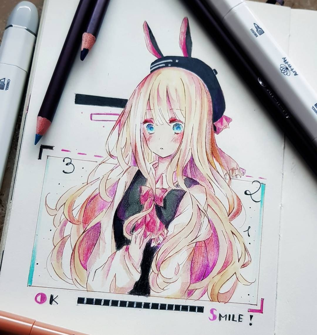 Manga Illustration With Art N Fly Alcohol Markers Oil Based Colored Pencils Sepia Pens And Black Pigment Pe Animated Drawings Anime Drawings Anime Art Tutorial