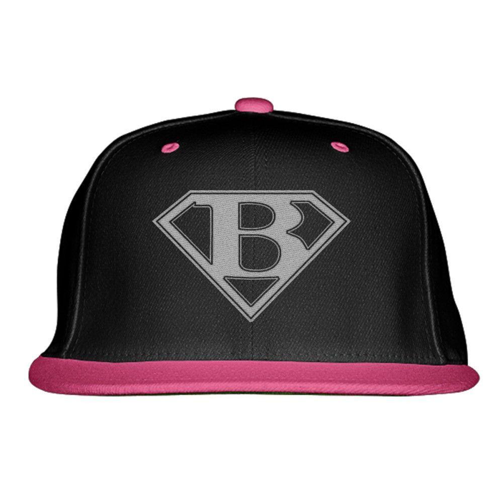60e6c6ea4d5 SUPER LETTER B Embroidered Snapback Hat