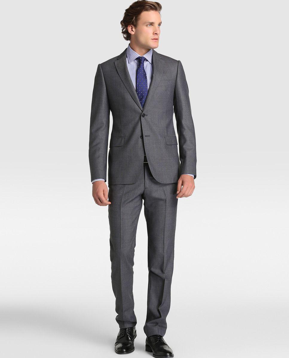 3e5e1a0a9be Traje de hombre Armani Collezioni regular de rayas gris · Armani Collezioni  · Moda · El Corte Inglés