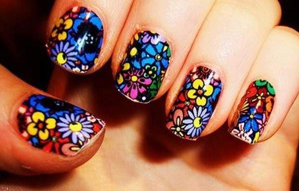 Diseños de uñas con flores, diseños de uñas con flores.   #uñasdemoda #decoratednails #uñasbonitas