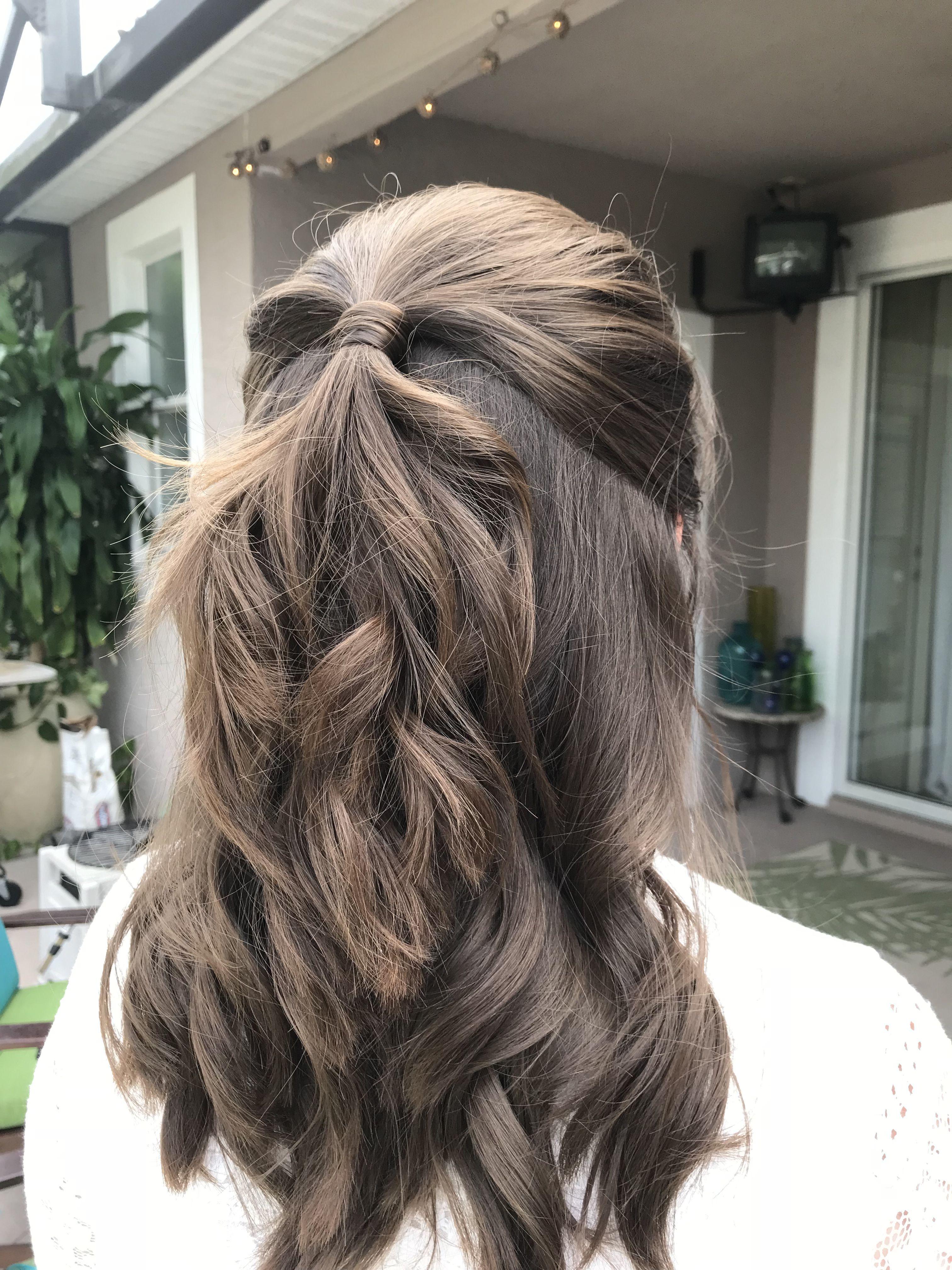Wavy halfup halfdown bridal hair bridal hair pinterest