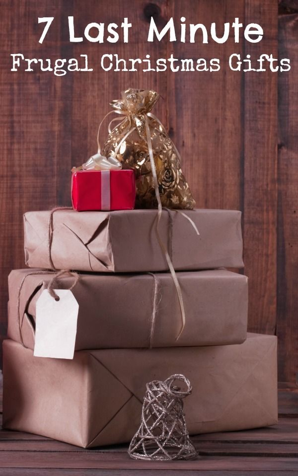 7 Last Minute Frugal Christmas Gifts - these ideas are quick and easy to pull together!
