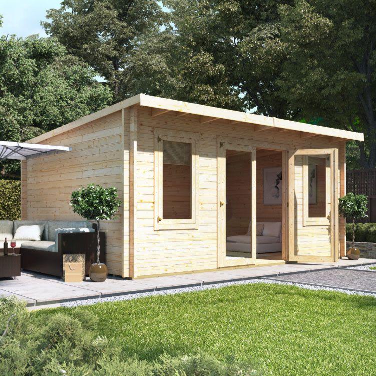5.0m x 4.0m BillyOh Fraya Pent Log Cabin 44 in 2020