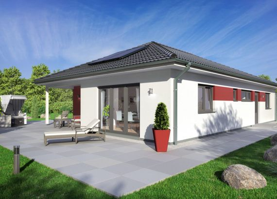 Bungalow Haus modern mit Walmdach Architektur, 5 Zimmer