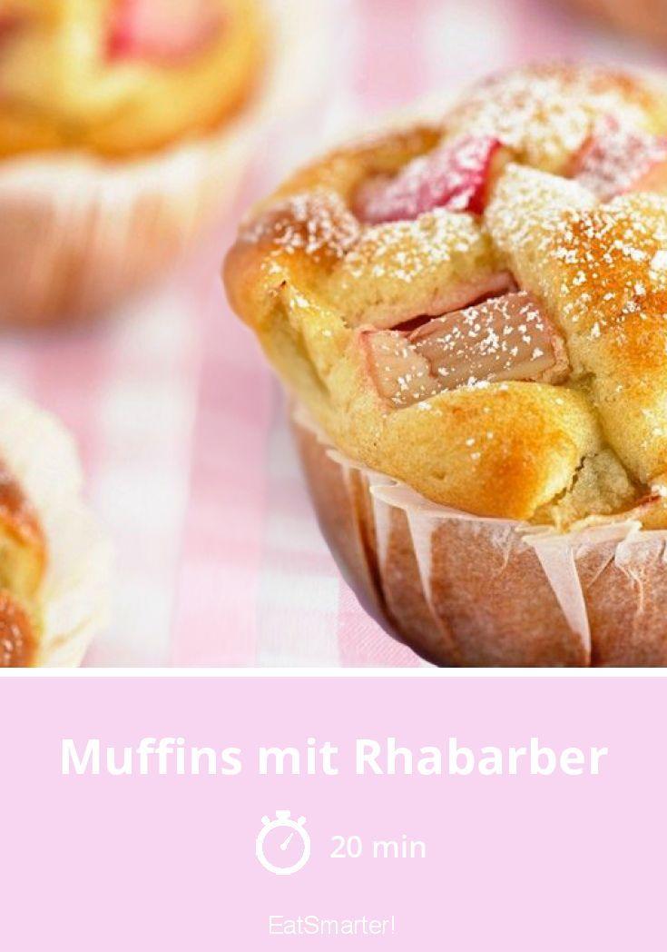 Muffins mit Rhabarber #veganermaulwurfkuchen