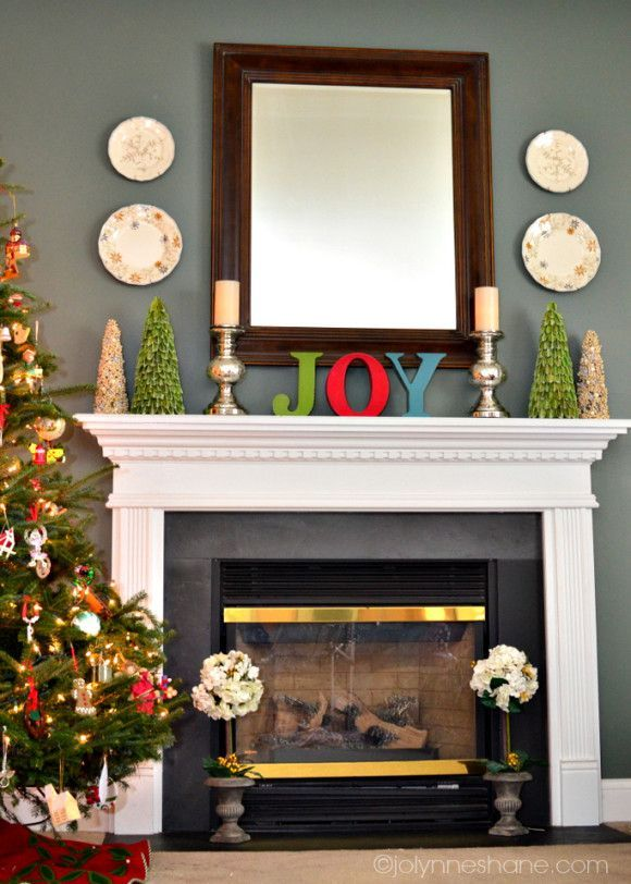 Ideas para decorar chimeneas en navidad Decoración de chimenea