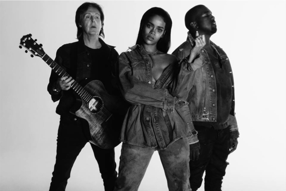 Fourfiveseconds Paul Mccartney Kanye West Paul Mccartney Rihanna Kanye West