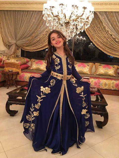 ملابس عيد 2016 موديلات التكشيطة للبنوتات Caftan Dress Moroccan Dress Kids Dress