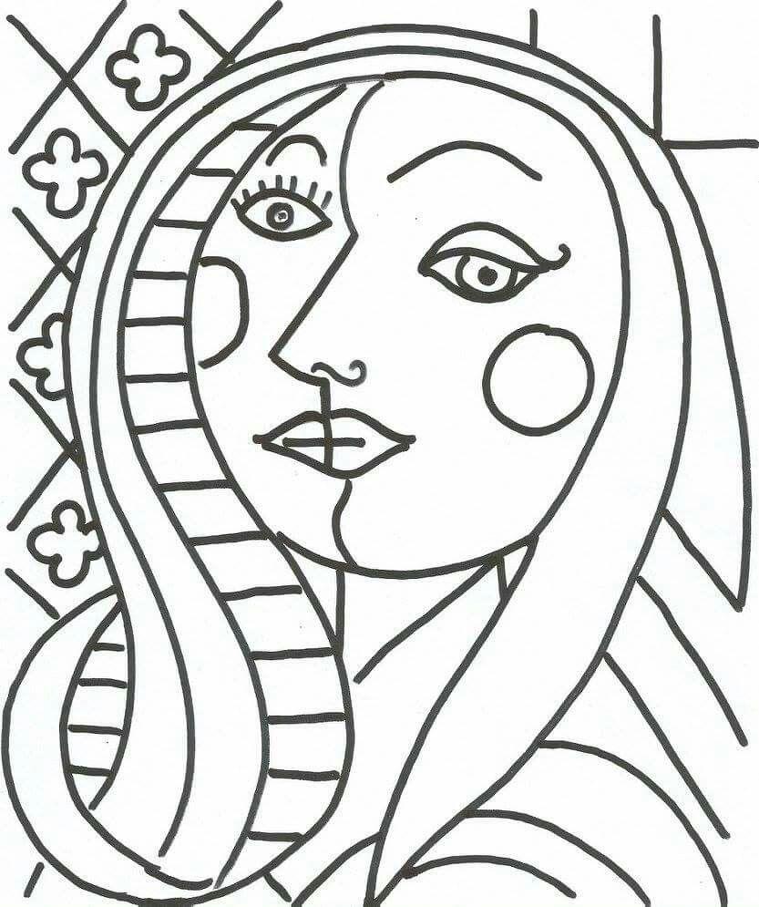Picasso Kleurplaat • Kidkleurplaat.nl