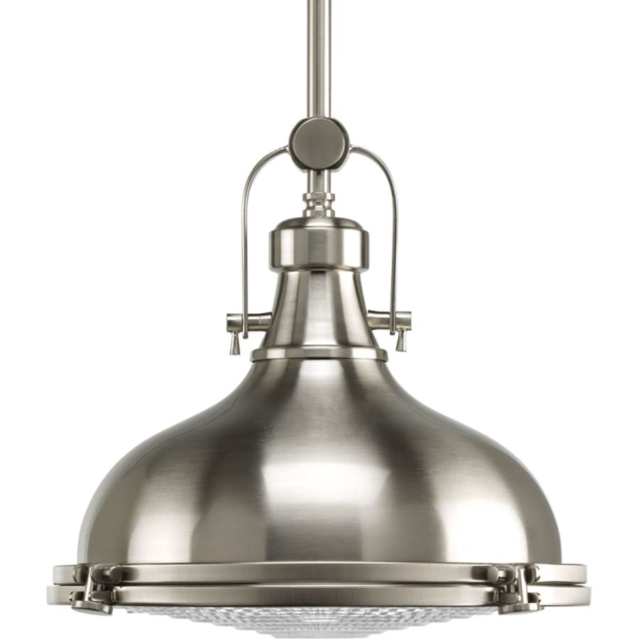 Good Lumens By Madison Avenue 1 Light Brushed Nickel Pendant With Clear Glass Shade Brushed Nickel Pendant Lights Glass Pendant Light Glass Shades