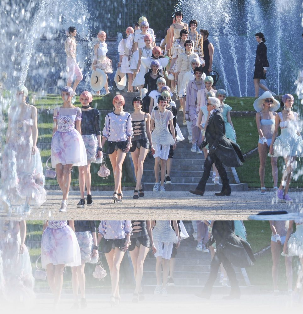 beautiful shot of Chanel Cruise Collection finale