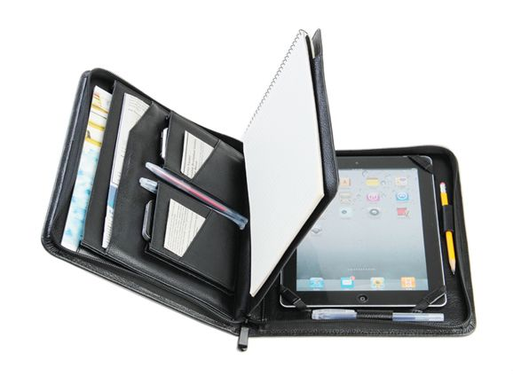 Ipad Portfolio Case With Paper Pad Full Grain Leather Ipad