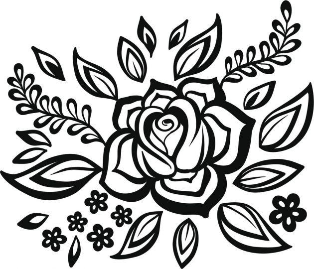 Dibujos de flores para tatuar en 2018   estencil nancy   Pinterest ...