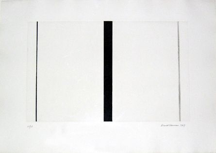 Barnett Newman Untitled Etching #1, 1969 Etching and aquatint 14 15/16 x 23 7/8 inches