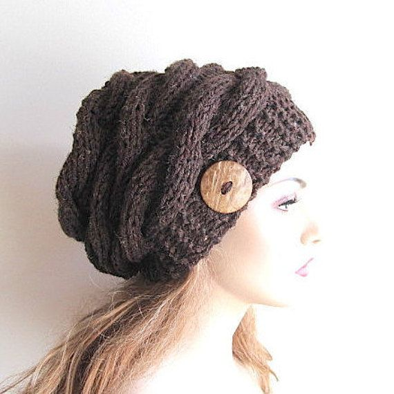 Instant Download PDF Knitting Pattern Cabled Slouchy ...