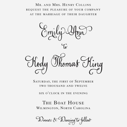 """Vintage Calligraphy"" Invitation Stamp"