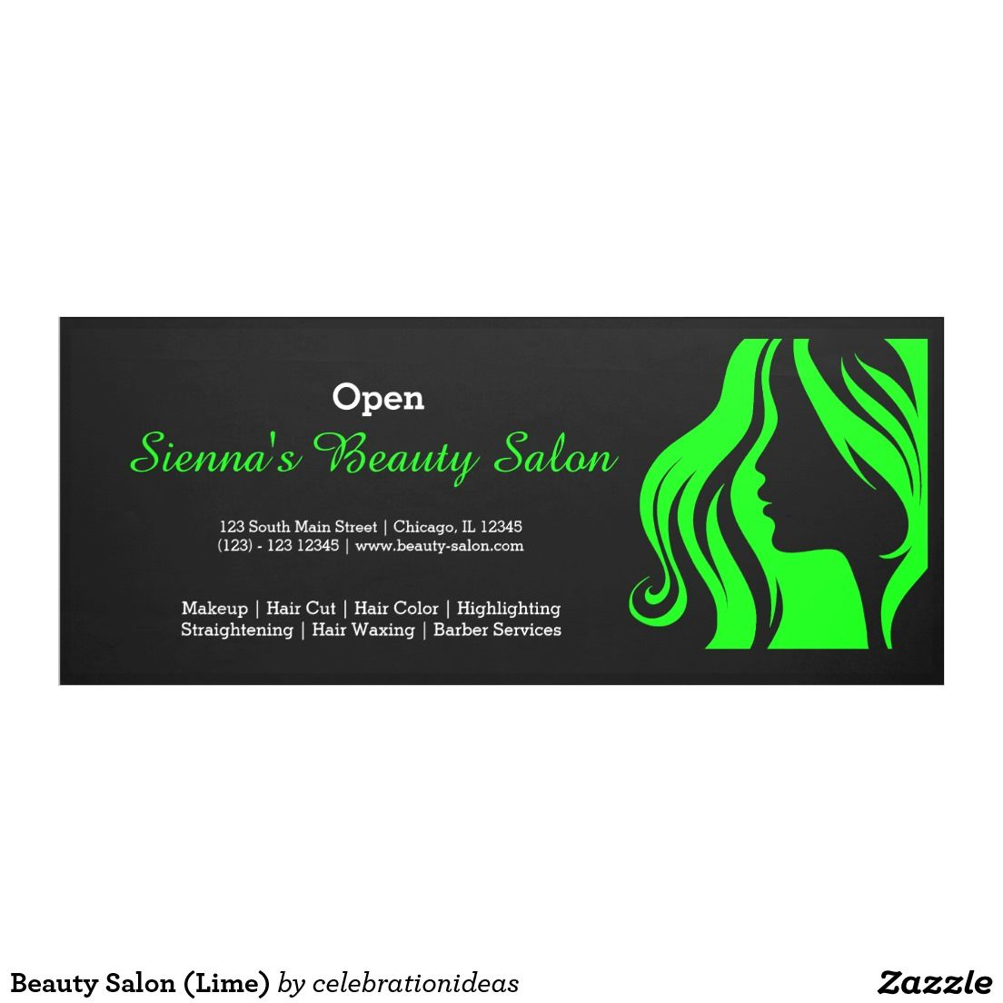 Beauty Salon Lime Banner Banners