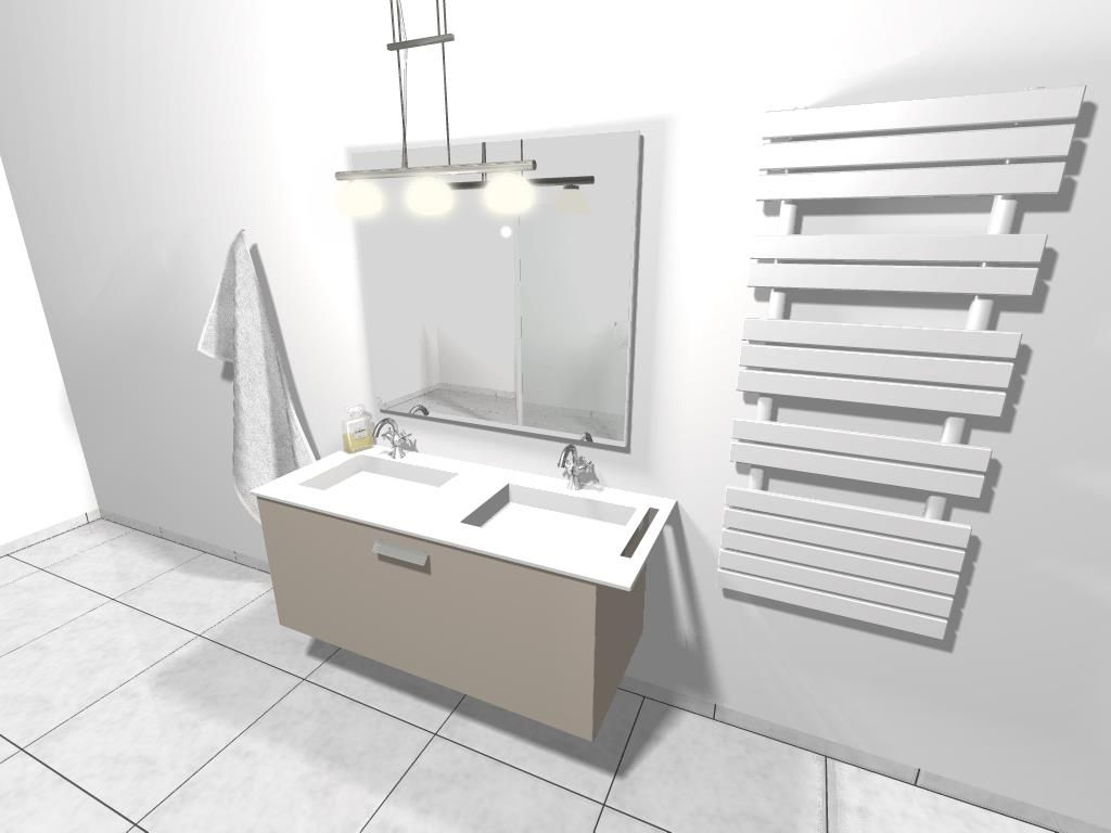 Dessin De Salle De Bain Par Logiciel Rendu Photo  Bathroom Design Interesting Software For Bathroom Design Design Inspiration
