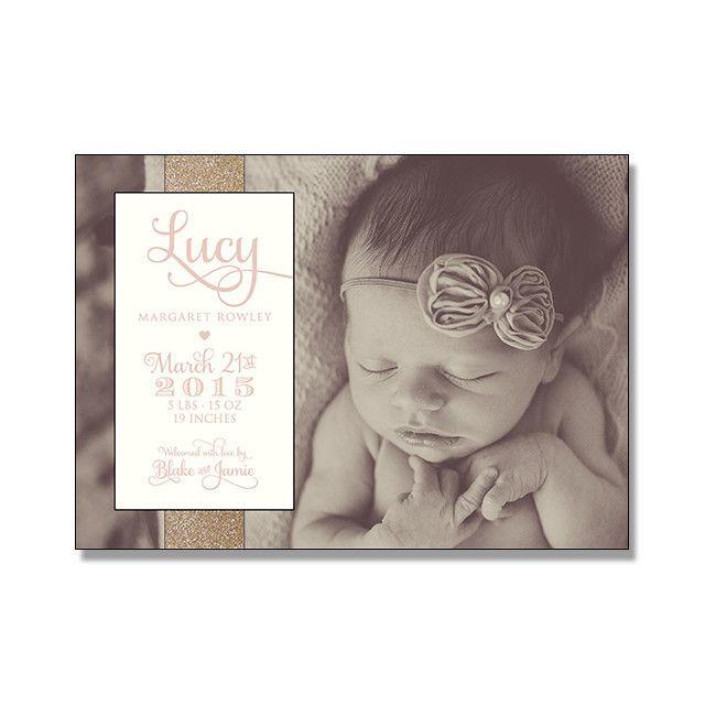 Whimsical Photo + Letterpress Birth Announcement