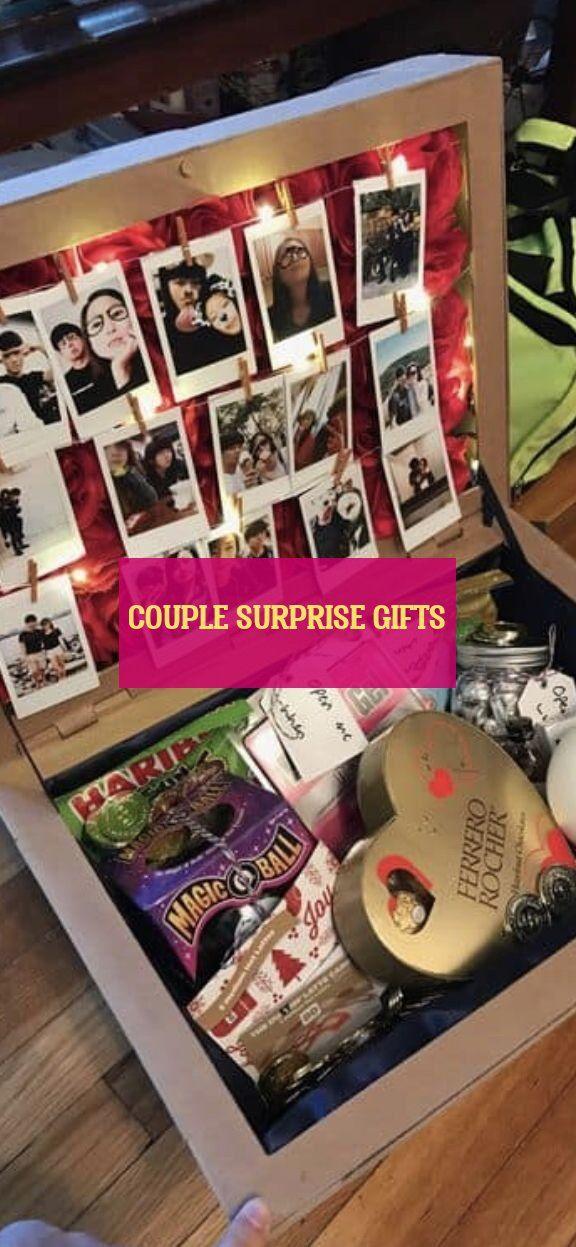 Paar Überraschungsgeschenke