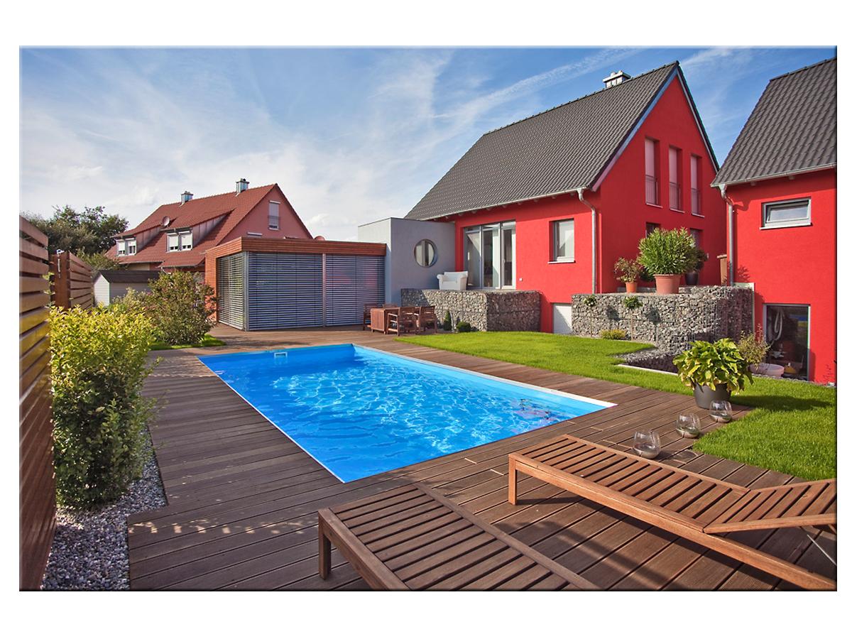 Styropool Rechteck Becken 1 25m Tief 3x5m Poolhaus Swimming Pool Pool Becken